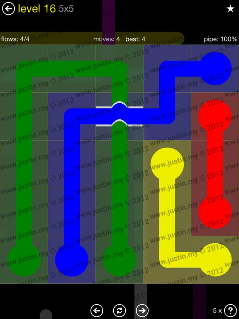 Flow Bridges 5x5 Level 16