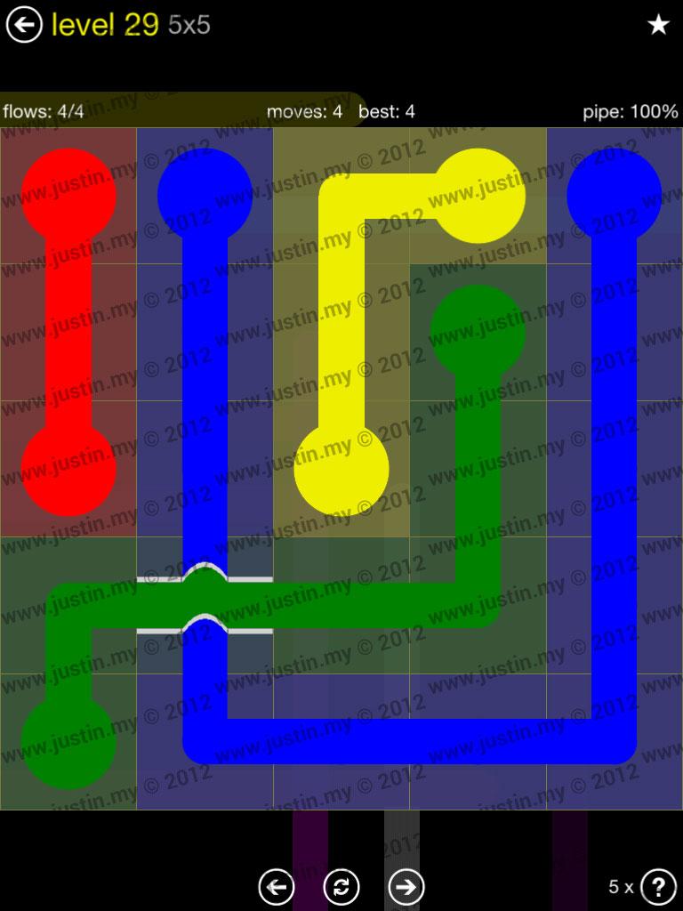 Flow Bridges 5x5 Level 29