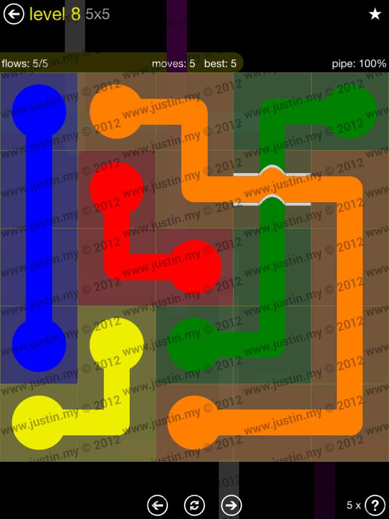 Flow Bridges 5x5 Level 8