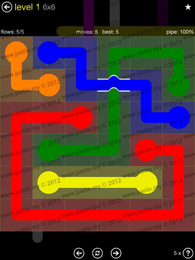 Flow Bridges 6x6 Level 1