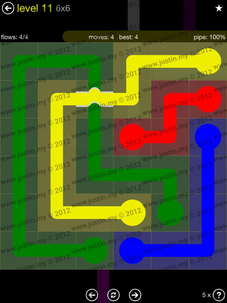 Flow Bridges 6x6 Level 11