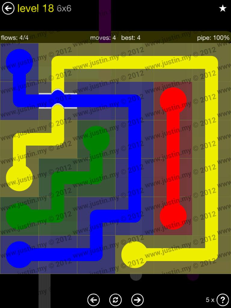Flow Bridges 6x6 Level 18