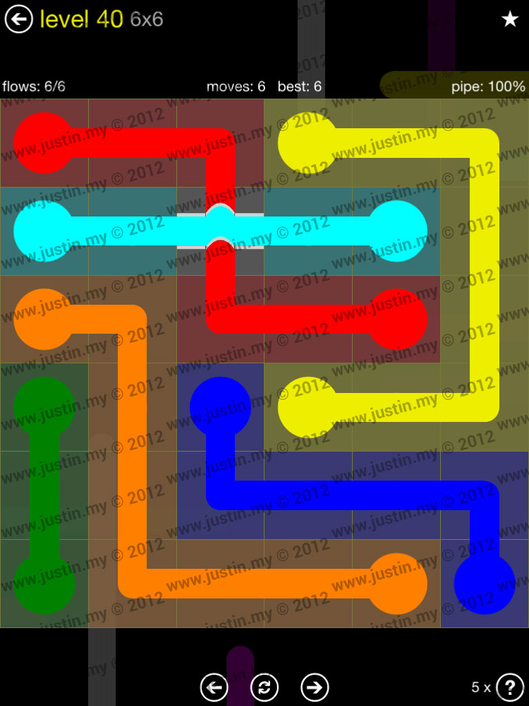 Flow Bridges 6x6 Level 40