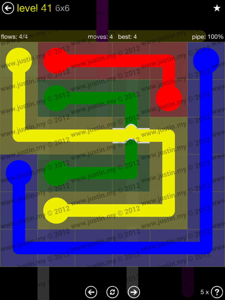 Flow Bridges 6x6 Level 41