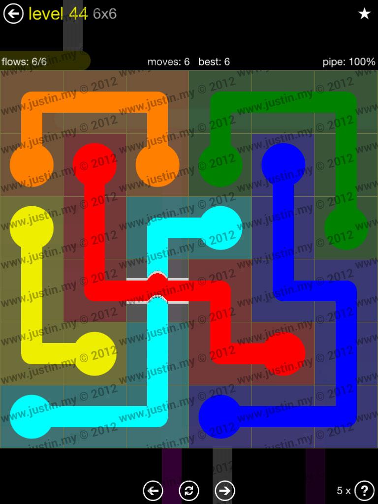 Flow Bridges 6x6 Level 44