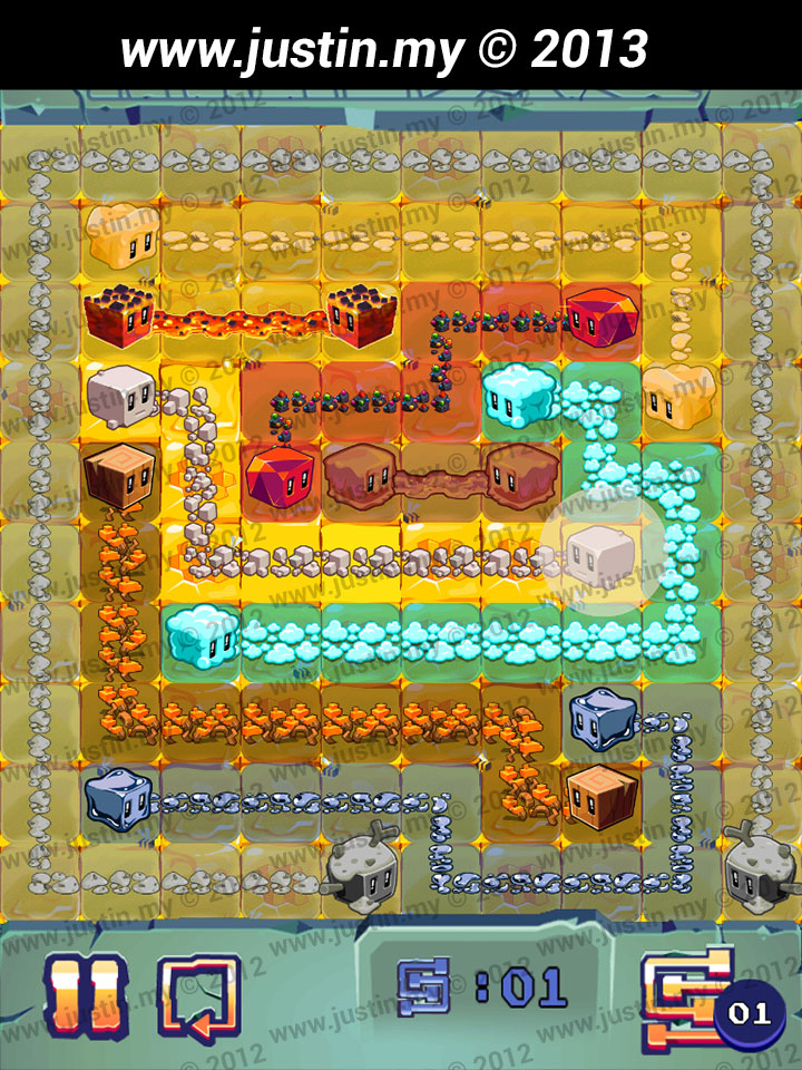 Lost Cubes 10x10 Level 13