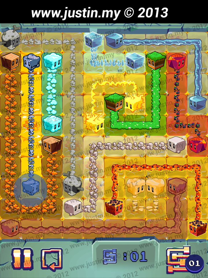 Lost Cubes 10x10 Level 35