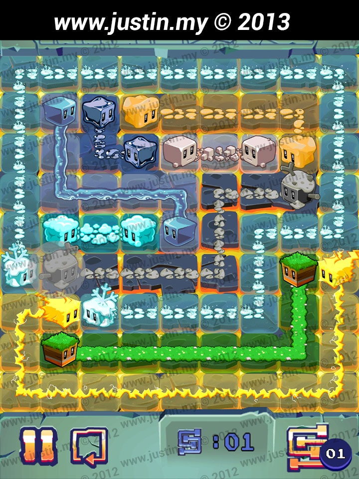 Lost Cubes 9x9 Level 1