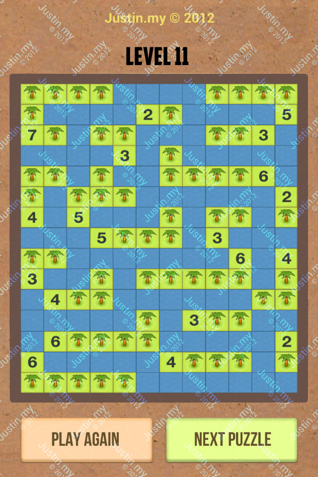 Number Island Nurikabe Master Pack Level 11