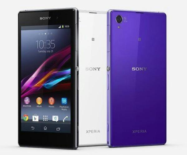 Sony Xperia Z1 press image in black white and purple