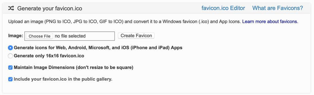 generate favicon for free online 2020