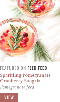 Sparkling Pomegranate Cranberry Sangria | Feed Feed Recipe Feature | Pomegranate Feed // JustineCelina.com