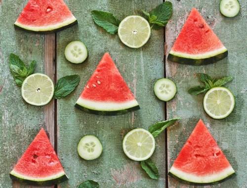 Detoxifying Watermelon Mint Limeade // JustineCelina.com