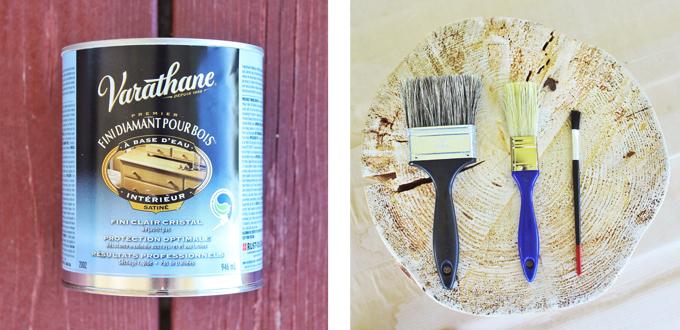 DIY | Natural Tree Stump Side Table Materials // JustineCelina.com