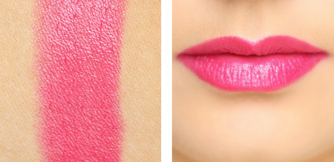 Bourjous Color Boost Lipstick in Fuschia Libre Photos, Review, Swatches // JustineCelina.com