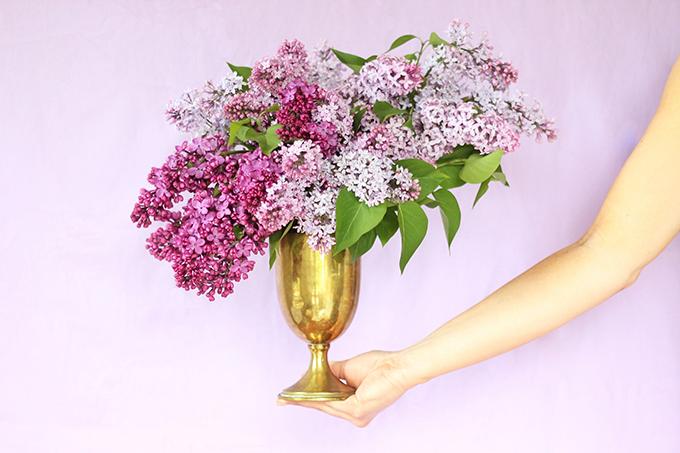DIY | Foraged Lilac Arrangement // JustineCelina.com