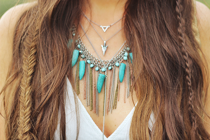What to Wear to   The Calgary Stampede   Vintage Turquoise and Silver Layered Necklaces // JustineCelina.com