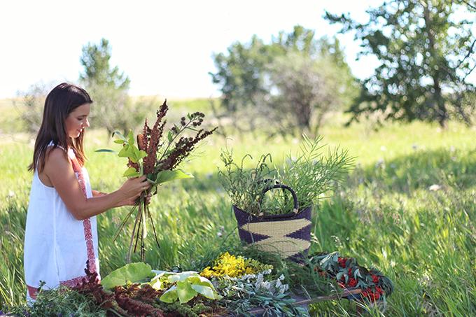 Foraged Prairie Wildflower Bouquet // JustineCelina.com