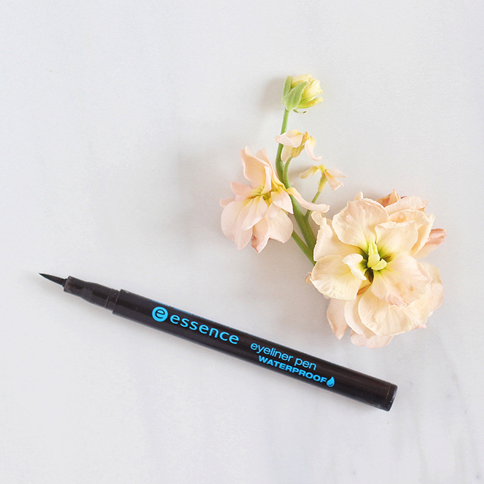Essence Eyeliner Pen Waterproof in Deep Black Photos, Review, Swatches // JustineCelina.com