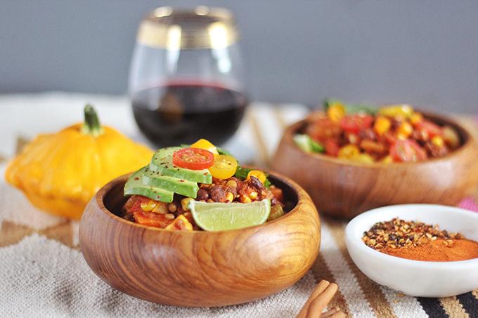Indian Summer Vegan Chili | A HomeSense Gourmet Food Story // JustineCelina.com