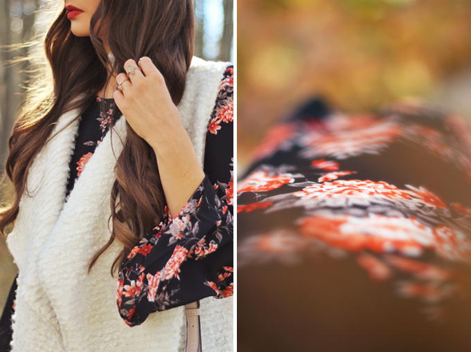 Autumn 2016 Trend Guide | New Romantic | 70's Inspired Fall Florals // JustineCelina.com