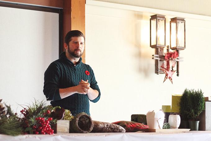 Christmas in November 2016 at the Fairmont Jasper Park Lodge | Cory Christopher Decor Workshop // JustineCelina.com