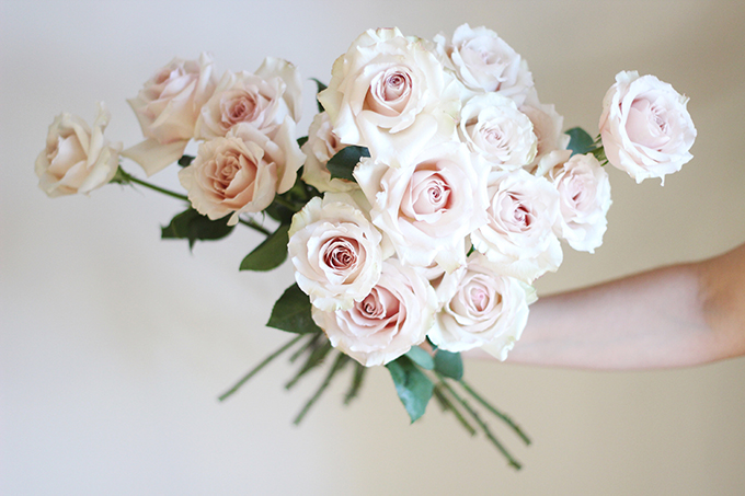 All About Roses | Quicksand Rose Bouquet // JustineCelina.com x Rebecca Dawn Design