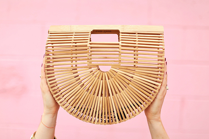 Summer to Autumn 2017 Trend Guide | Orange Crush | Cult Gaia's Ark Large Bamboo Clutch // JustineCelina.com