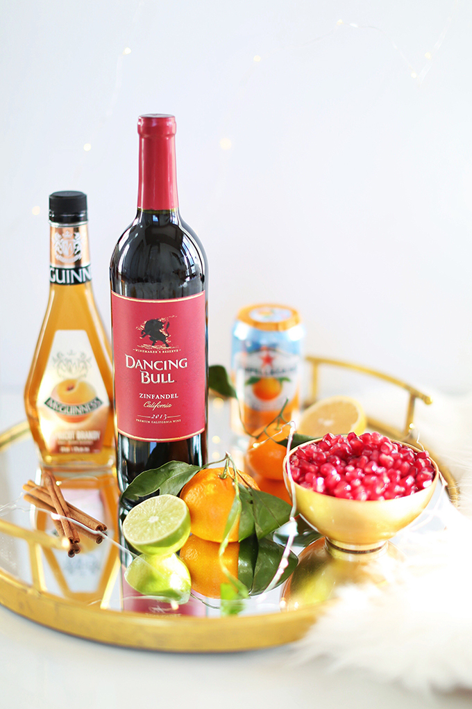 Classic Winter Citrus Red Sangria Ingredients // JustineCelina.com