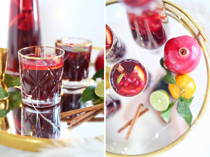 Classic Winter Citrus Red Sangria // JustineCelina.com