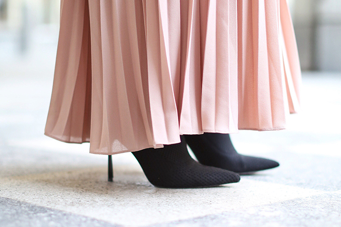 What to Wear to | Casual Holiday Parties | Holiday 2017 | How to Style Sock Boots // JustineCelina.com