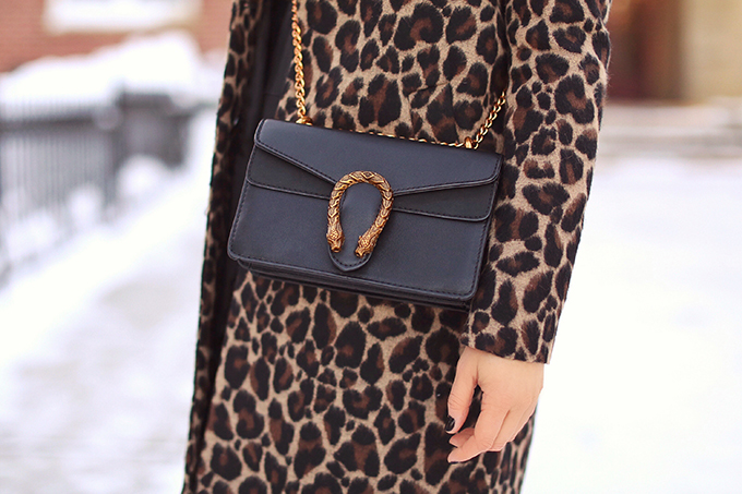 How to Style | Leopard Print | Winter to Spring 2018 Transitional Fashion Ideas | Calgary, Alberta Fashion Blogger | Canadian Fashion Blogger | Best Gucci Dionysus Dupe Under $50 // JustineCelina.com