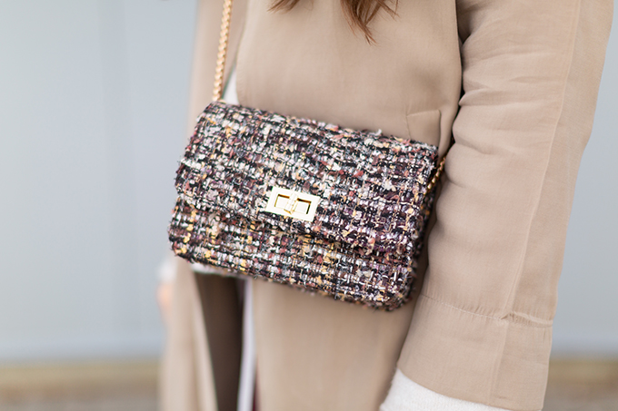 How to Style Transitional Layers   Winter to Spring 2018 Transitional Style Ideas for Cooler Climates   Tweed Crossbody Bag   Calgary, Alberta Fashion Blogger // JustineCelina.com