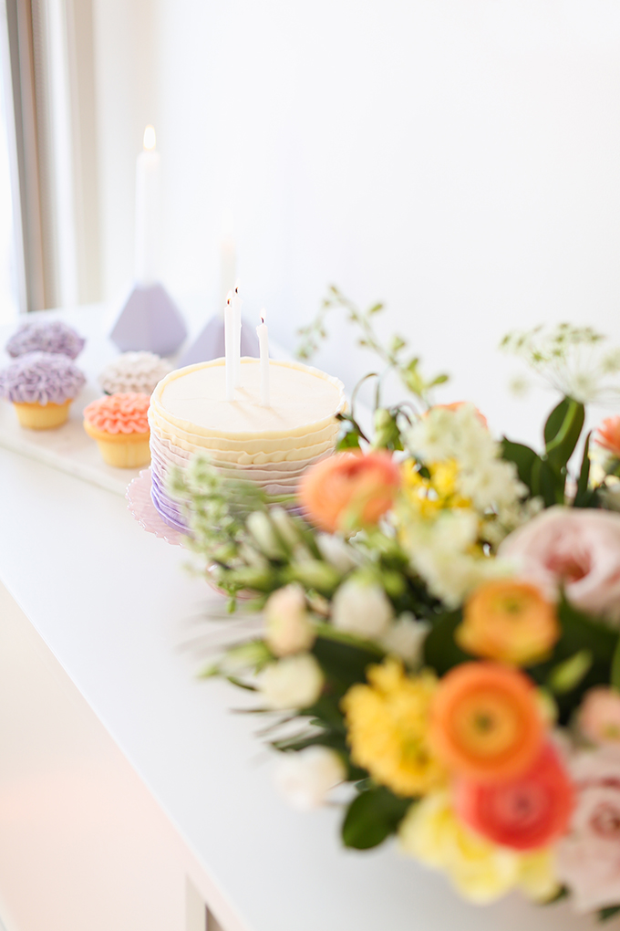 My 3rd Blogiversary + 10 Things I Learned in my Third Year of Blogging | Cheerful Spring Flowers and Lavender Ombre Ruffle Cake | A Pantone Spring 2018 Inspired Birthday Celebration // JustineCelina.com