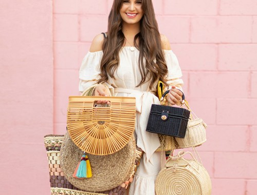 The Accessory Edit   Natural Material Bags   How to Style Straw Bags   The Best Straw, Raffia, Jute and Wood Bags 2018 // JustineCelina.com