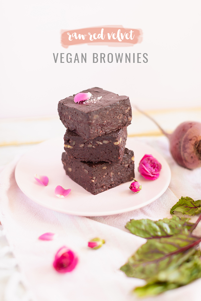Raw Red Velvet Vegan Brownies Justinecelina