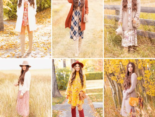 Early Autumn 2020 Lookbook | Tips for extending your summer wardrobe into autumn, innovative layering techniques, favourite retailers, cozy seasonal staple pieces and wearable trends incorporated into 6 relaxed, bohemian inspired looks suitable for a variety of climates | Boho Fall 2020 Outfit Ideas | How to Style Summer Dresses Into Fall | How do you transition summer clothes for fall | Top Summer / Fall Trends | Calgary Alberta Fashion & Lifestyle Blogger // JustineCelina.com