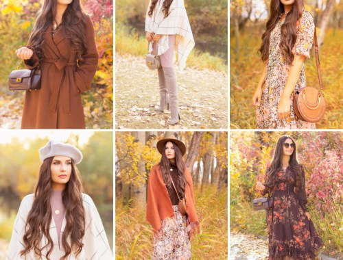 Fall 2020 Lookbook | 3 free spirited, trend focused fall 2020 outfits featuring quality wardrobe staples | Boho Fall Outfit Ideas | Fall in Calgary | How to Style a Poncho | Comfortable Fall / Winter Outfit Ideas | Timeless Fall Outfit Ideas | fallwinter 2020 2021 fashion trends | The Best Stylish Non-Medical Face Masks | Monochromatic Fall Outfit | How to Style Midi Dresses into Fall and Winter | Creative Layering Ideas | How to Mix Prints | Calgary Alberta Fashion Blogger // JustineCelina.com