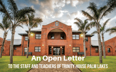 Open Letter to the Staff and Parents of Trinity House Palm Lakes