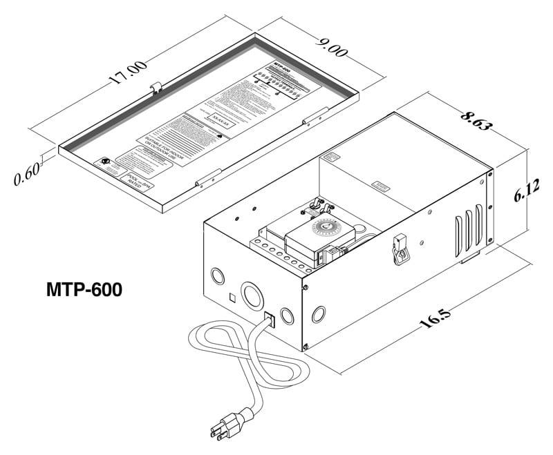Multitap (MTP) Professional Landscape Lighting Transformer