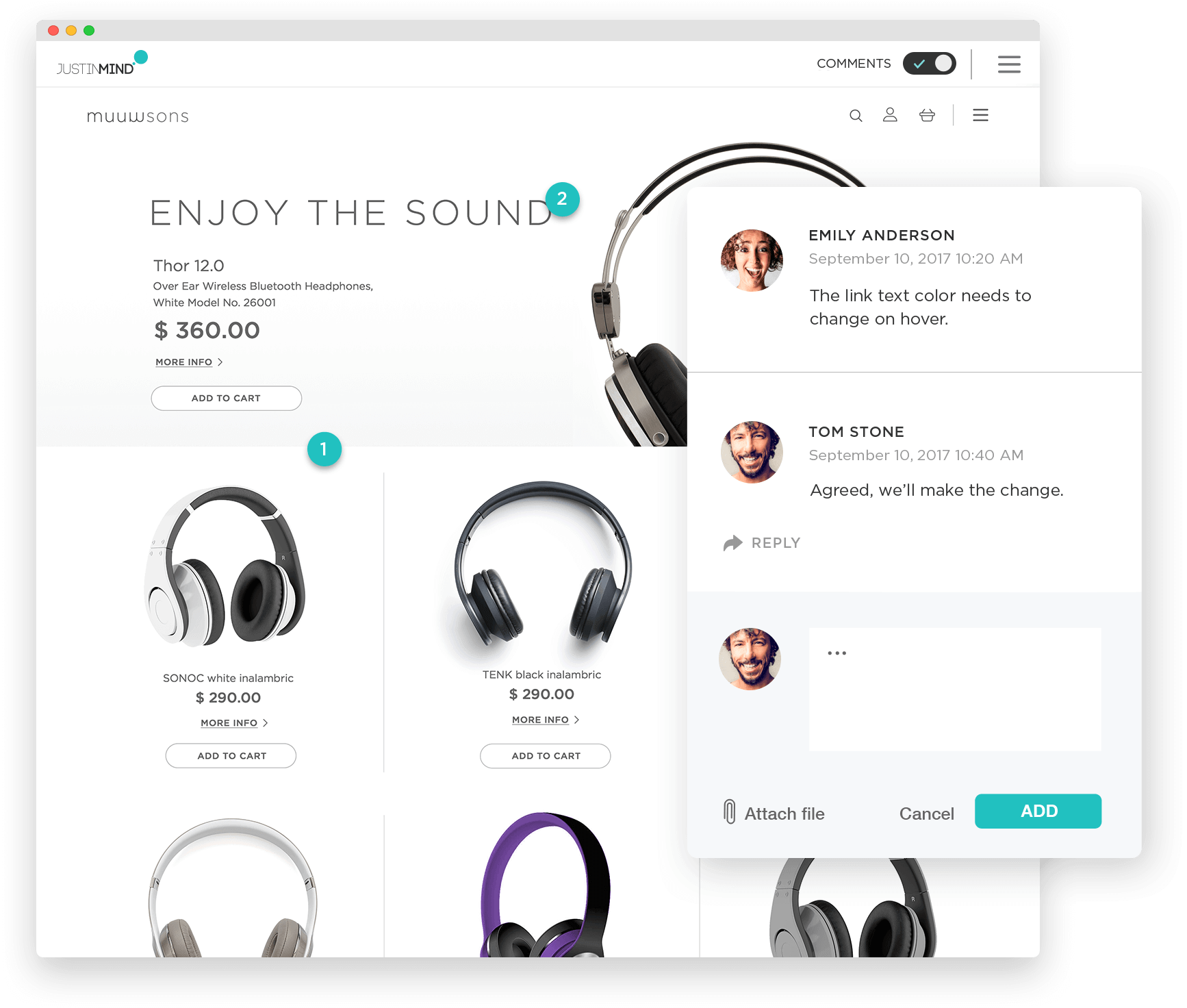 Prototyping tool for web and mobile apps