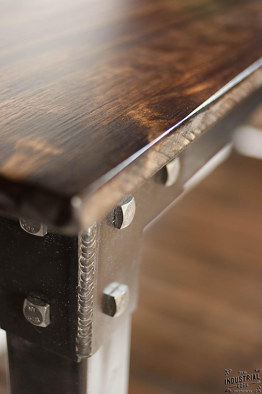 Custom Console Table  Steel  Wood  Real Industrial Edge