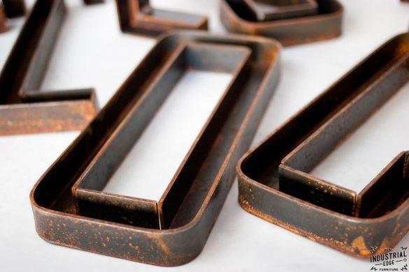 Custom Metal Letters 12 Inch Real Industrial Edge Furniture Custom Industrial Vintage