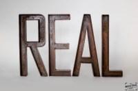 Custom Metal Letters / 12 inch  Real Industrial Edge