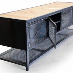 Kitchen Tables With Bench Outdoor Kitchens Tampa Fl Custom Industrial Island / Reclaimed Wood & Steel ...