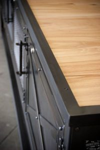 Custom Industrial Kitchen Island / Reclaimed Wood & Steel ...