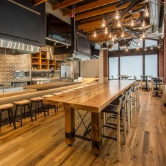 Rolling Kitchen Island With Seating Amazon Mat Community Tasting Table / Reclaimed Heart Pine & Steel ...