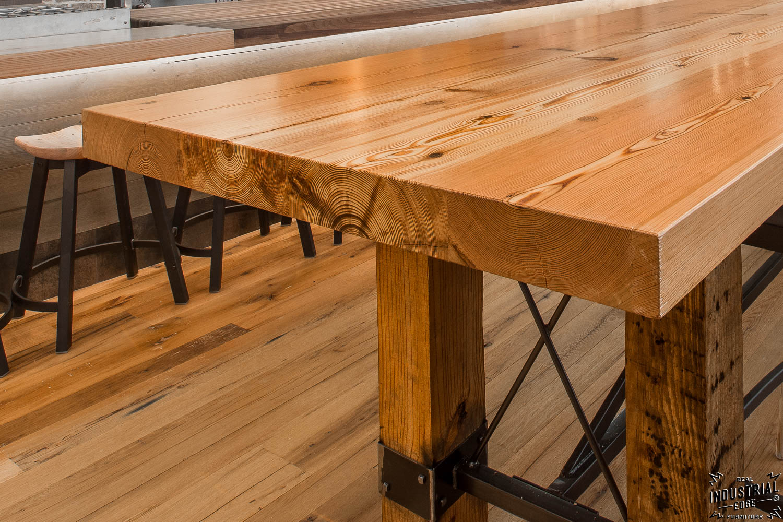 custom kitchen island for sale home depot cabinet doors community tasting table / reclaimed heart pine & steel ...