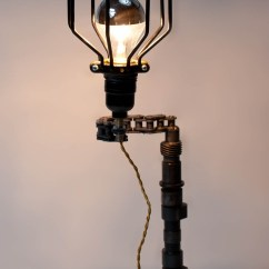 Reclaimed Wood Kitchen Tables Air Vent Upcycled Motorcycle-chain Lamp – Real Industrial Edge ...
