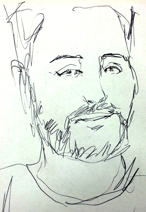 Justin Reinhart Portrait in Pen